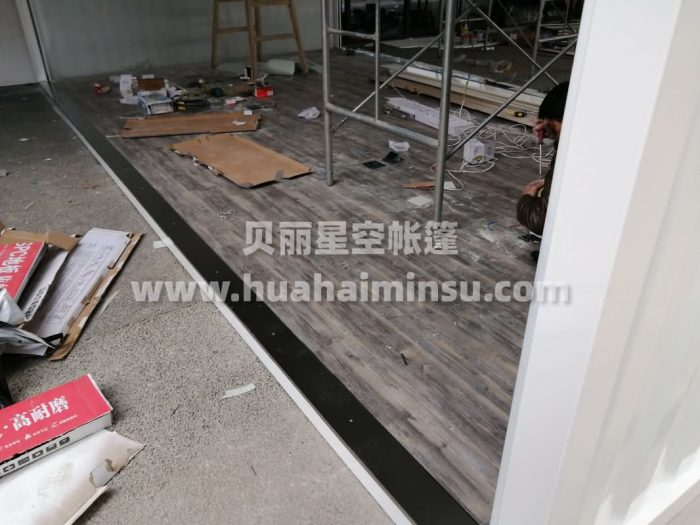 Factory customized steel structure scenic spot assembly container store