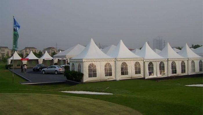 European spire tent, outdoor exhibition tent