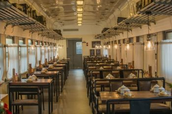 Railway Theme Train Hotel and Train Restaurant(old train compartment)