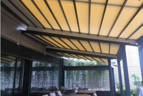 Outdoor electric track skylight, high-grade retractable awning