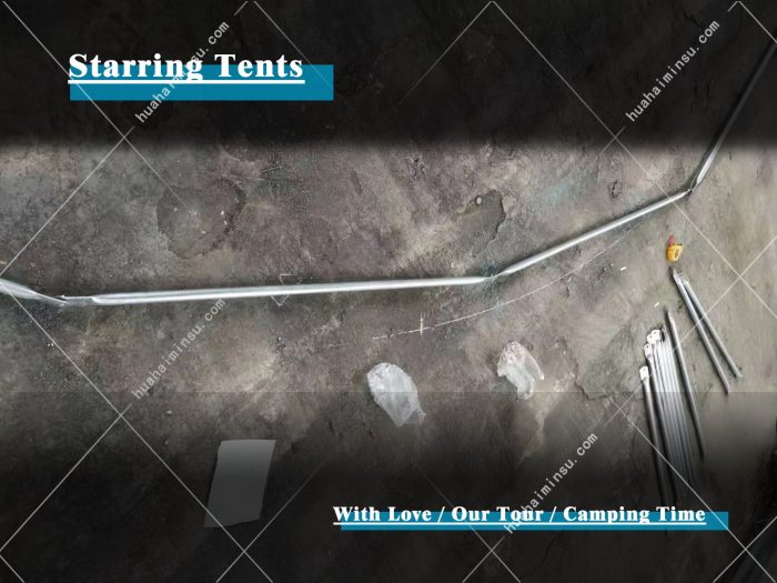 Create the perfect starring tent and taking photos t in the factory