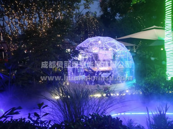 Dining starry room, outdoor dome tent