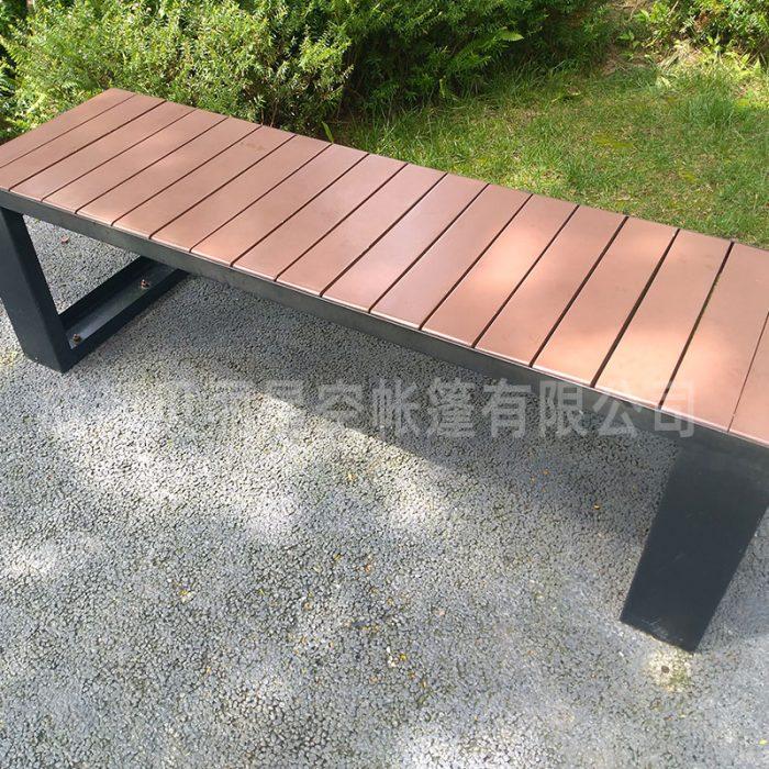 Outdoor leisure wooden steel bench