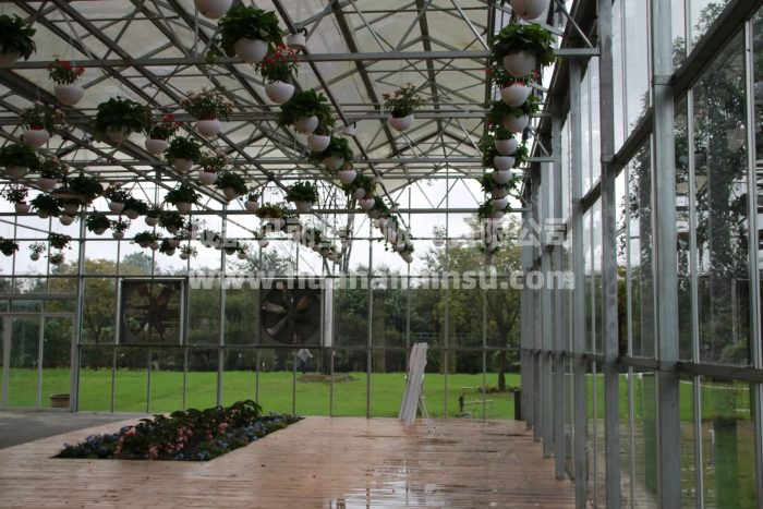 Intelligent large steel structure flower vegetable glass greenhouse