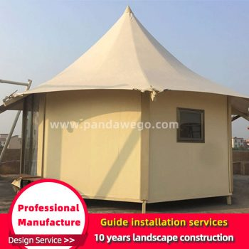 Tent of outdoor hexagonal wild luxury resort
