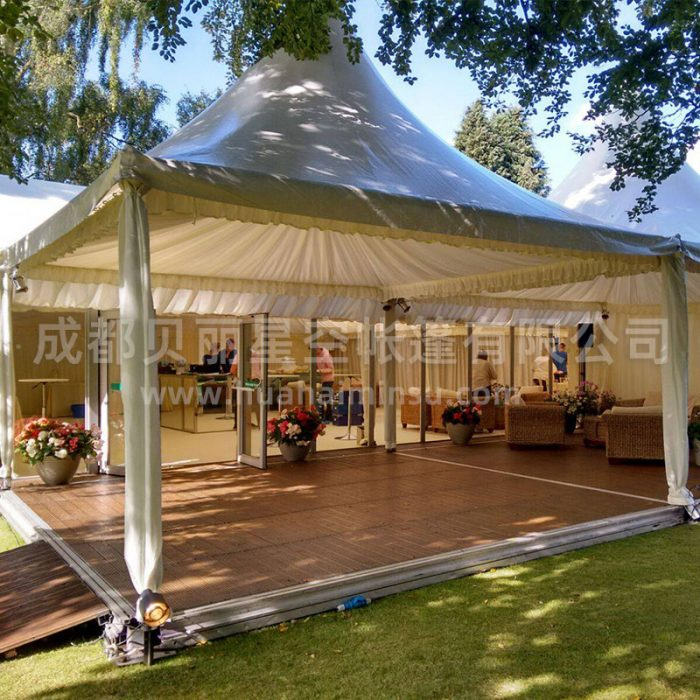 Outdoor four corner wild luxury resort tent
