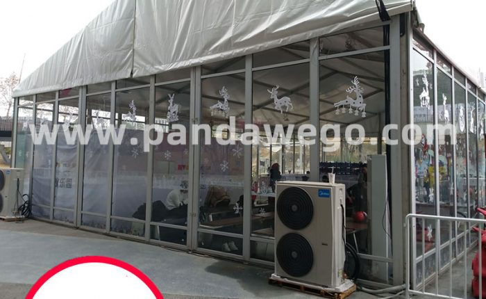 outdoor glass tent