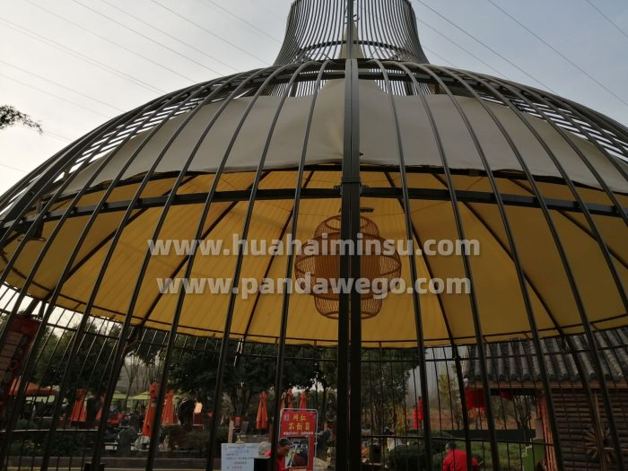 Nest spherical tents with different styles