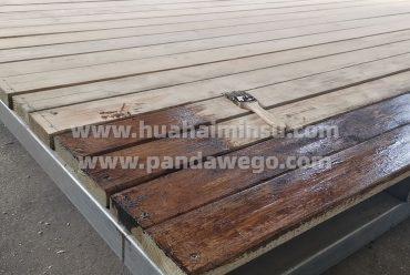 set up Wooden platform for dome tent hotel